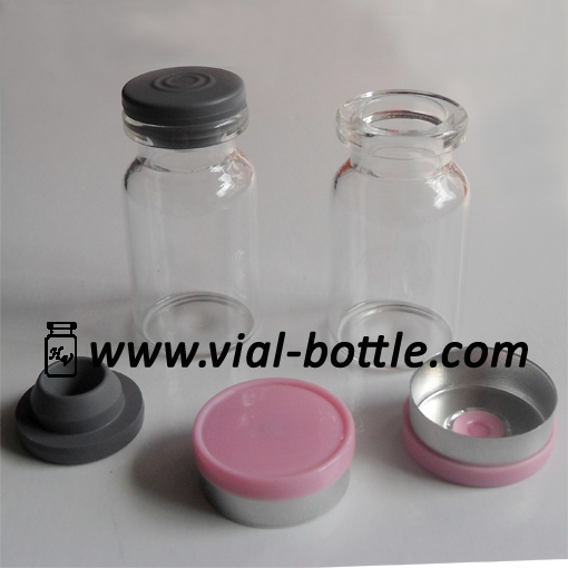 Clear Glass 7ml Crimp Top Vials 20mm Butyl Rubber Vial