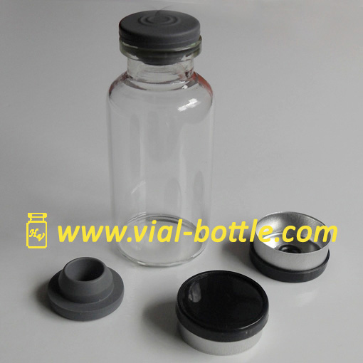 20ml Tubing Glass Vial With Rubber Stopper And Dark Flip